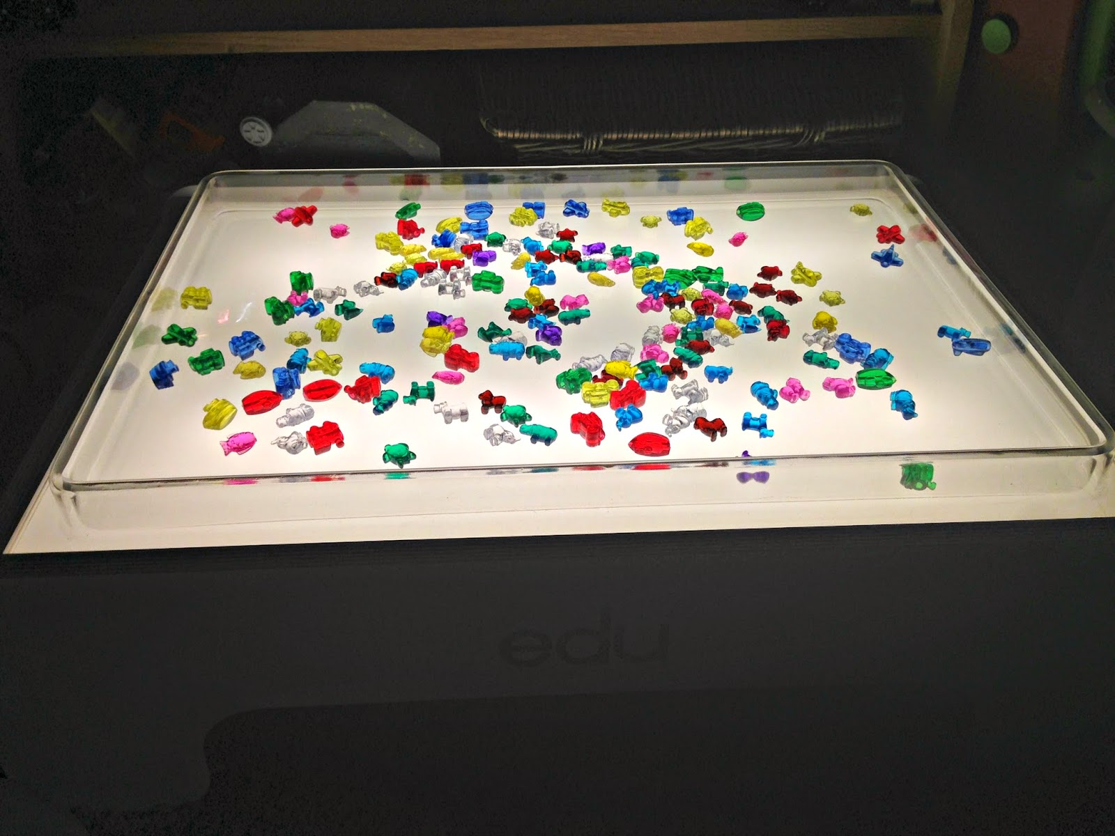 The Edu2 Light Table With Sand And Water Tray On Top