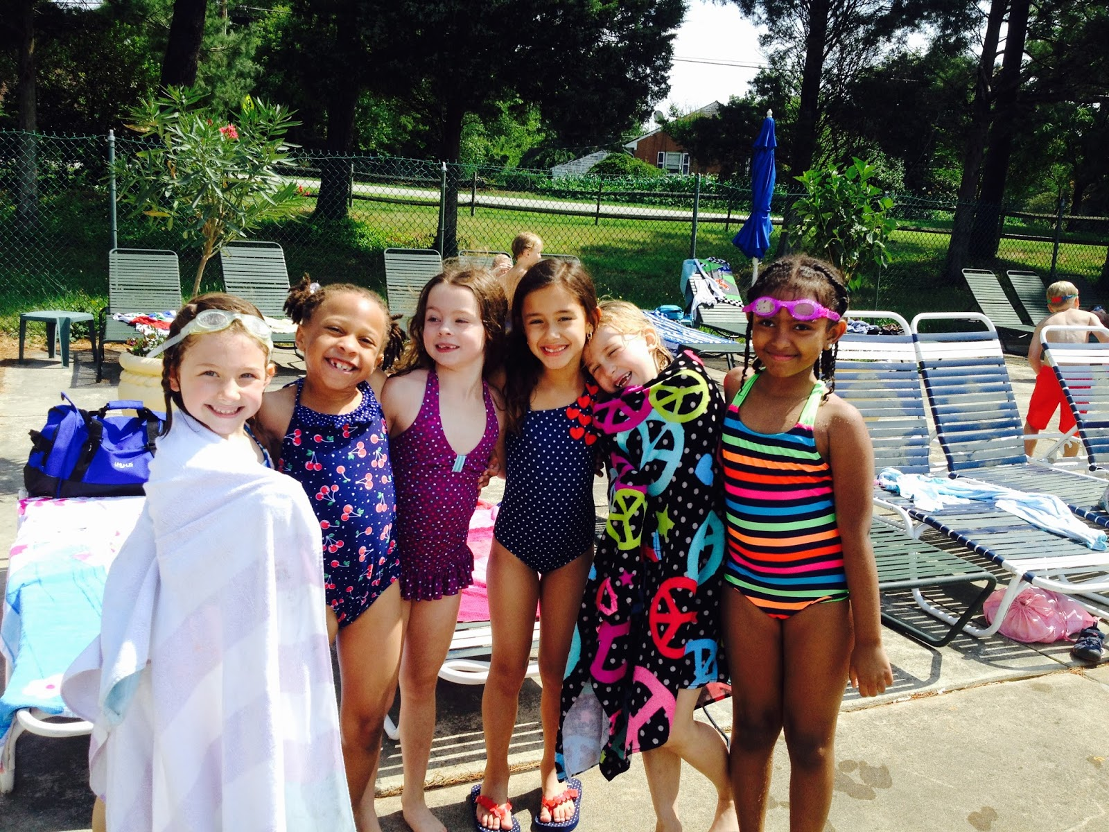 pictures of st grade girls pool party
