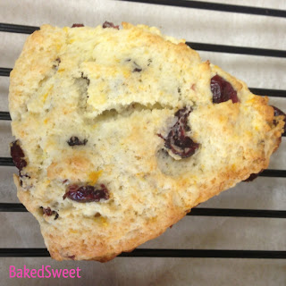 Plain Cranberry Orange Scones