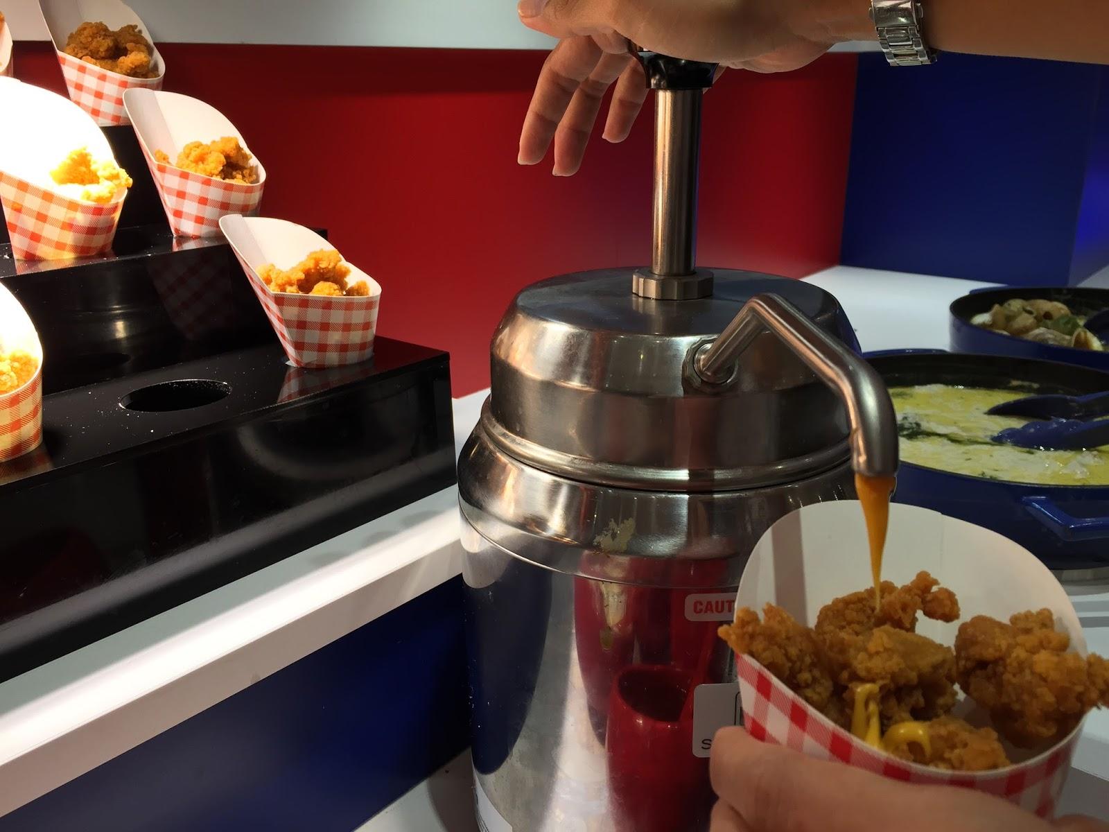 Sakura International Buffet US section - Nacho Cheese Pump