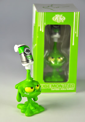 Zombie Juice Edition Green Tube Monster Vinyl Figure and Packaging by VISEone