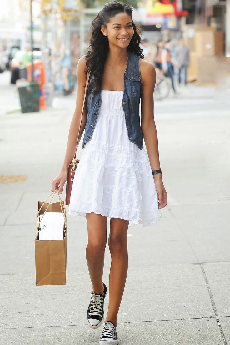 white dress pictures cute casual white dress