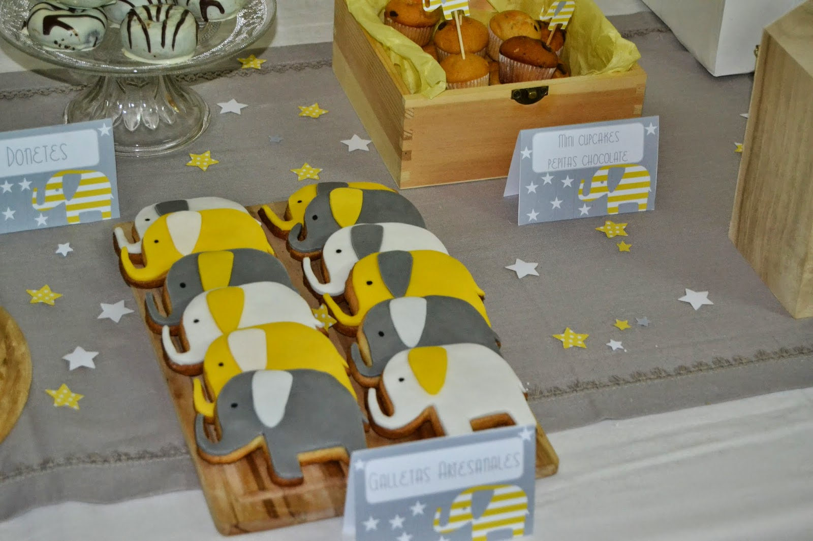 Baby Shower Elefante Amarillo ~ Baby shower party set grey and yellow baby shower elephant party