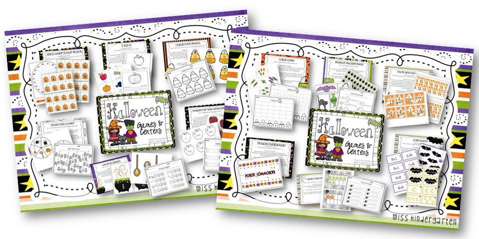 http://www.miss-kindergarten.com/2013/09/halloween-october-games-and-centers.html