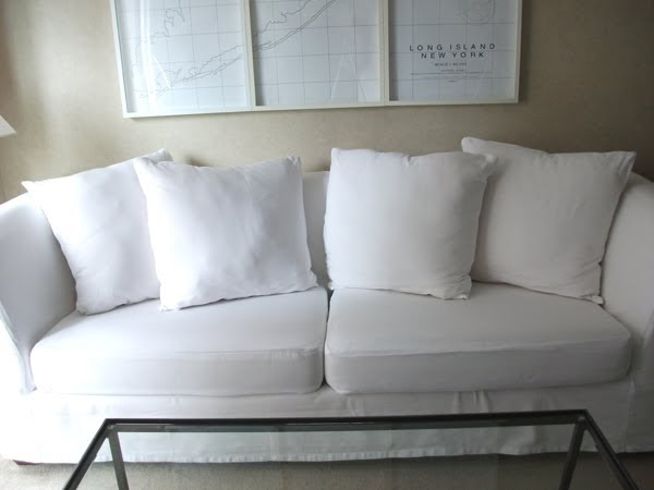 bromeliad my diy how to make a relatively cheap and easy no hem slipcover fashion and home. Black Bedroom Furniture Sets. Home Design Ideas