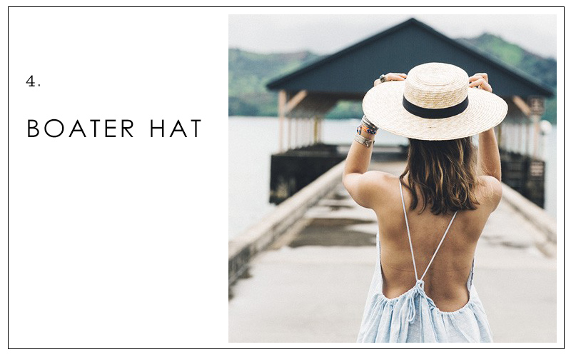 boater hat, summer accessories