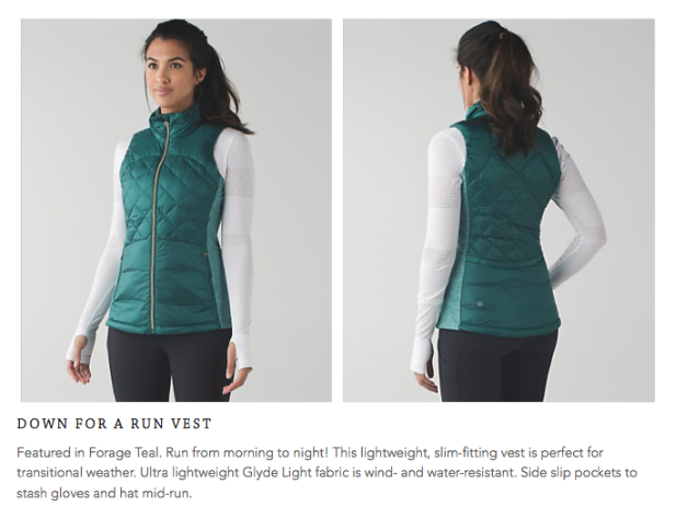 lululemon down-for-a-run-vest