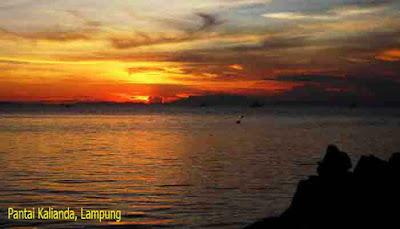 Sunset Pantai Kalianda, Lampung