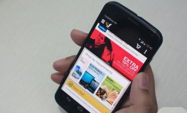 Flipkart as a mobile application in an Android Device