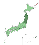 Map of the Japan Sendai Mission