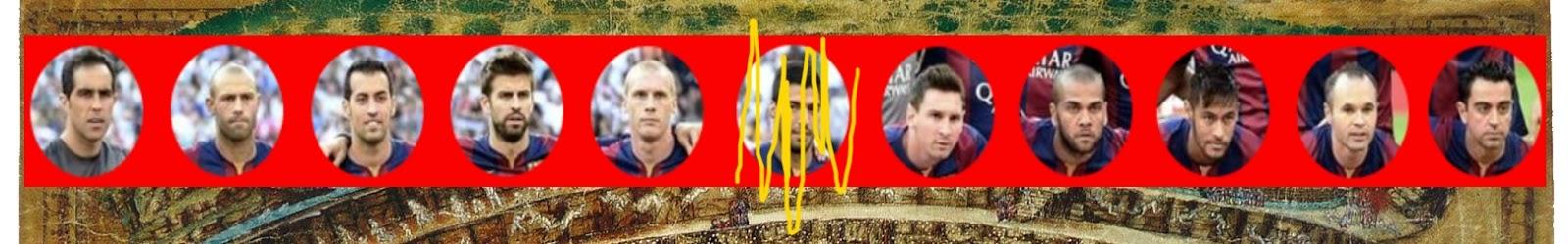 Detalle fotografías jugadores Barcelona.