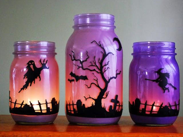 10 Ideas para Reciclar Frascos de Vidrio en Halloween, II Parte