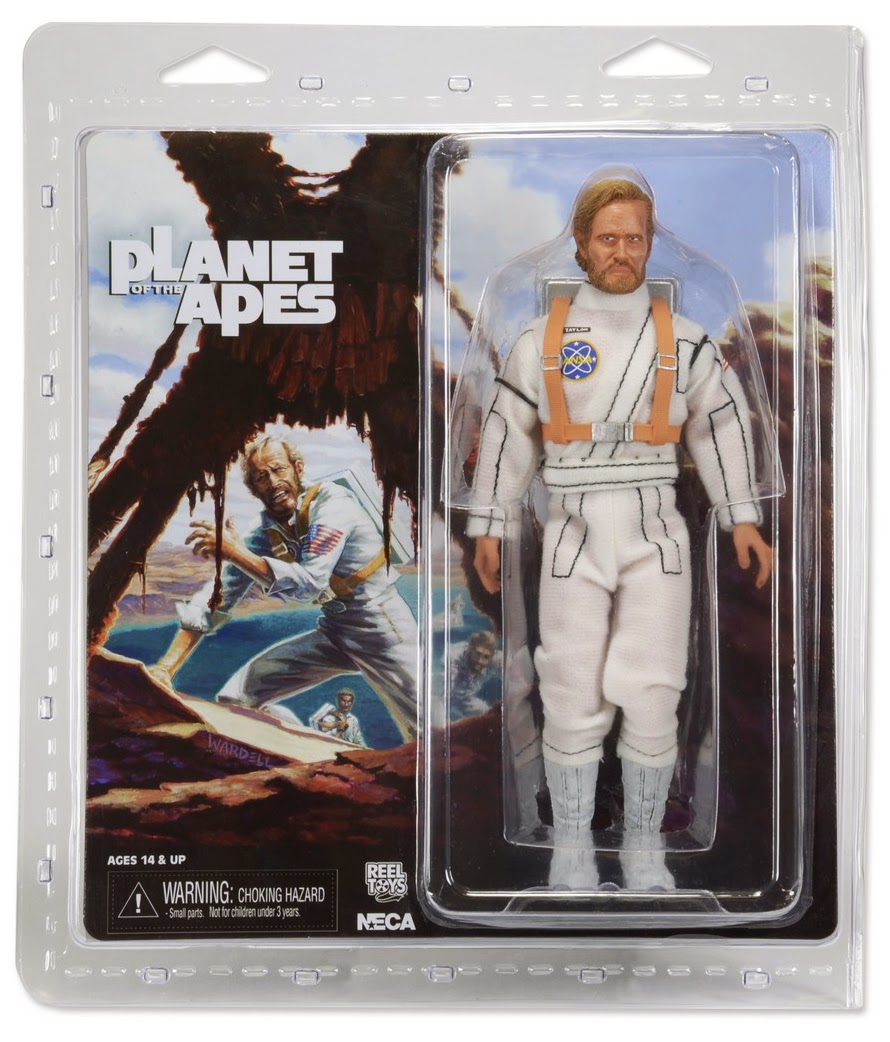 NECA - 8 Inch Retro Style - Planet of the Apes - Astronaut Taylor figure
