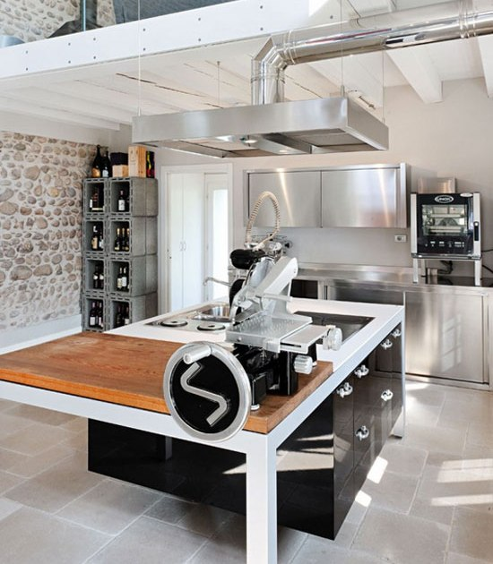 Conciliaci n de estilos decorativos cocinas con estilo - Campana cocina industrial ...