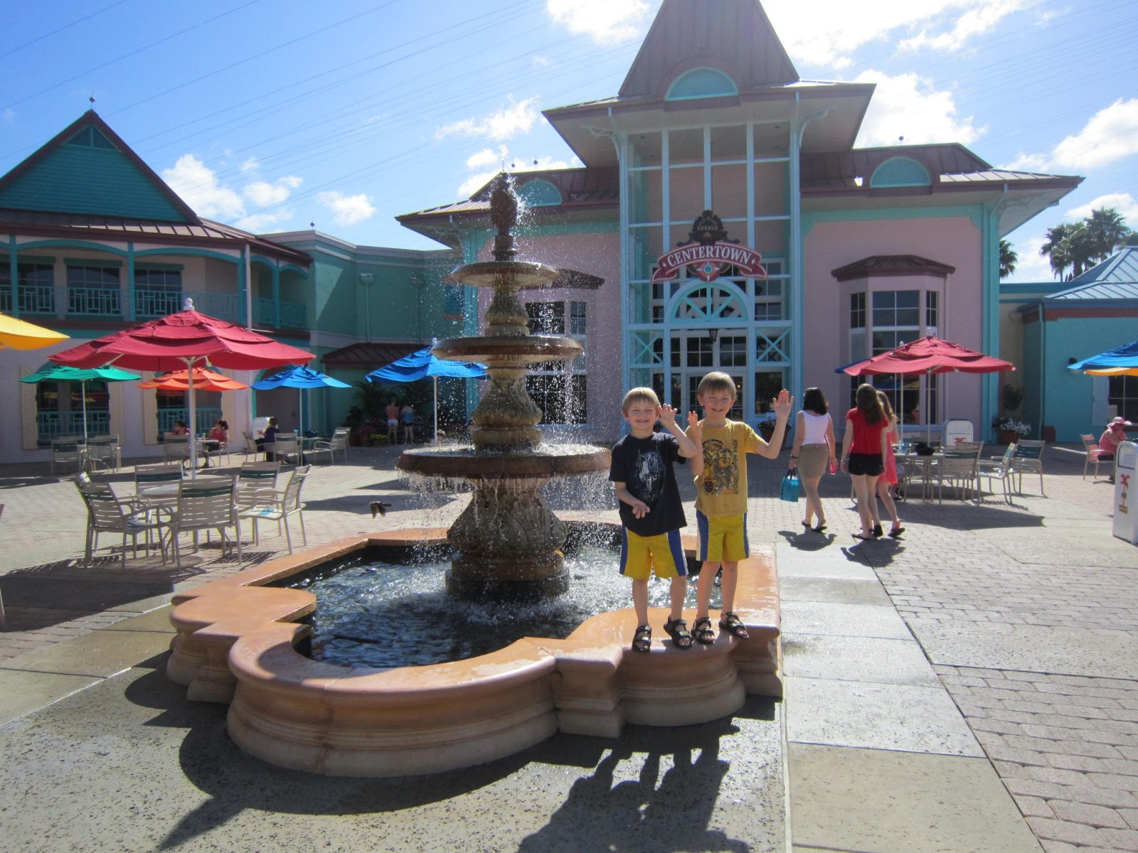 Caribbean Beach Resort, courtyard, kids, family vacation, Walt Disney World, Orlando, Florida