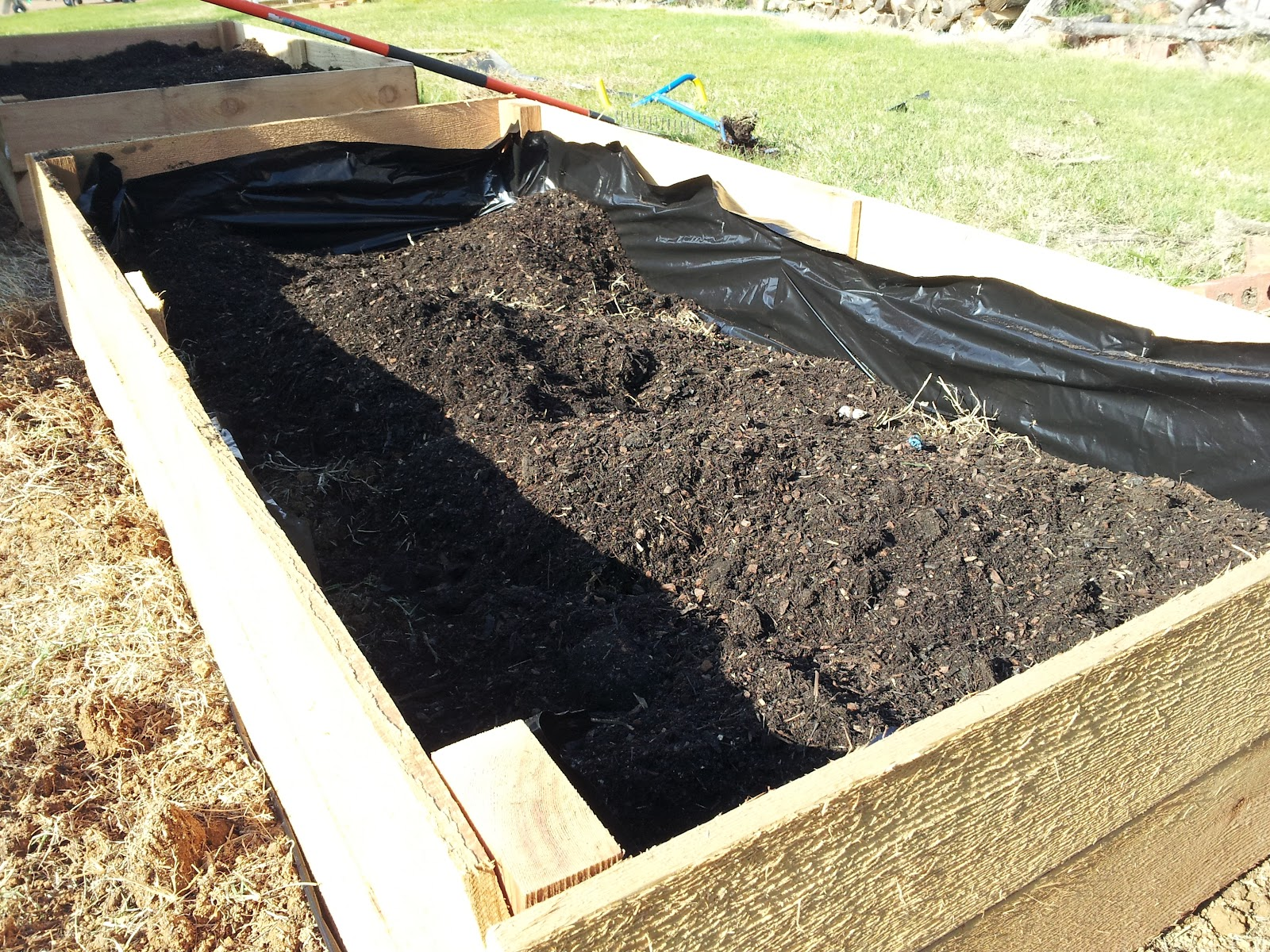 The Hobby Collector Building Raised Flower Beds On The Cheap