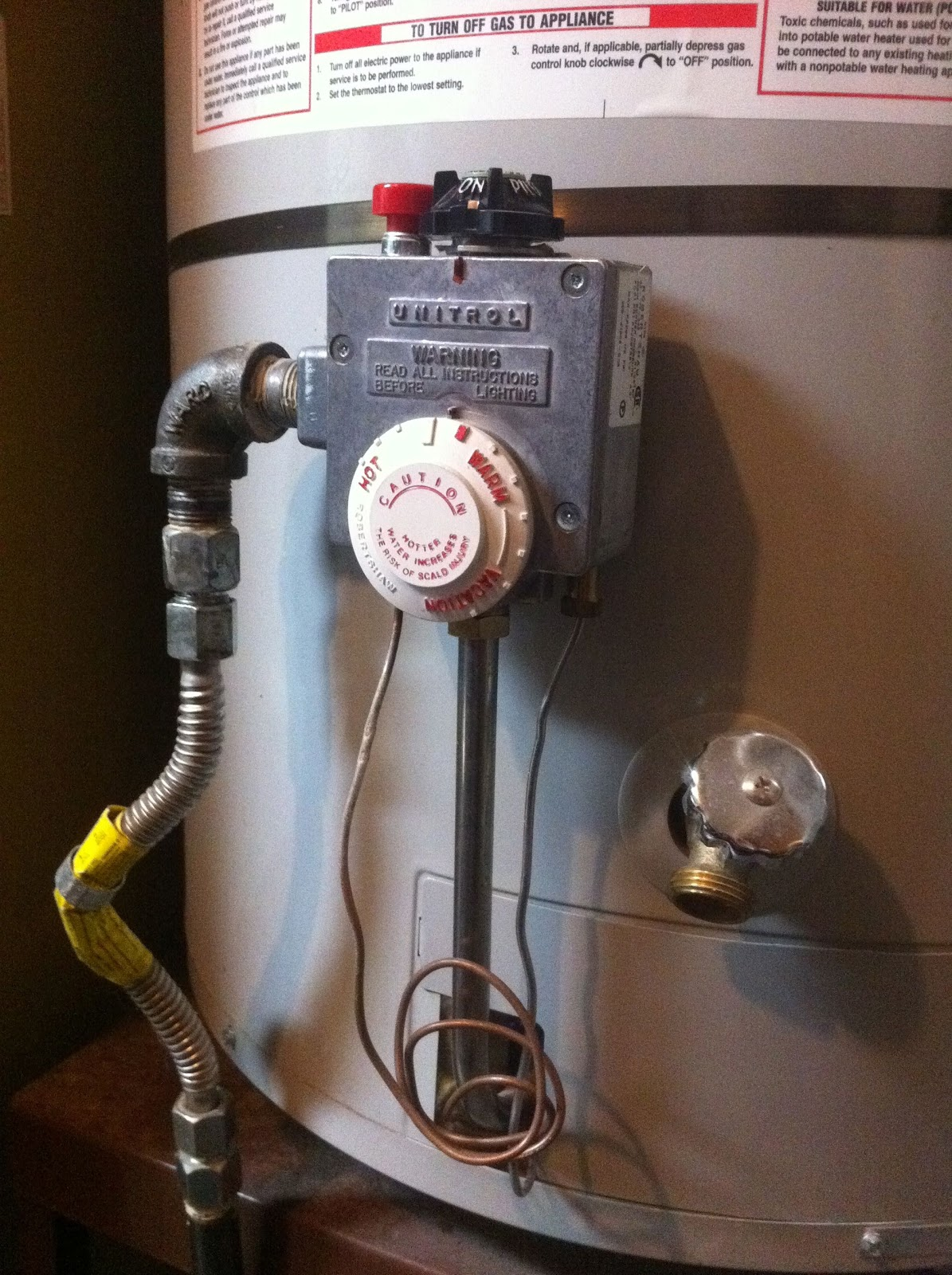 Science Of Everyday Stuff That Wire In Your Hot Water Heater Sci Wiring A Portion The Thermocouples Copper Can Be Seen Coiled At Bottom This Photo From There It Travels Up Into Box Contains Magnet