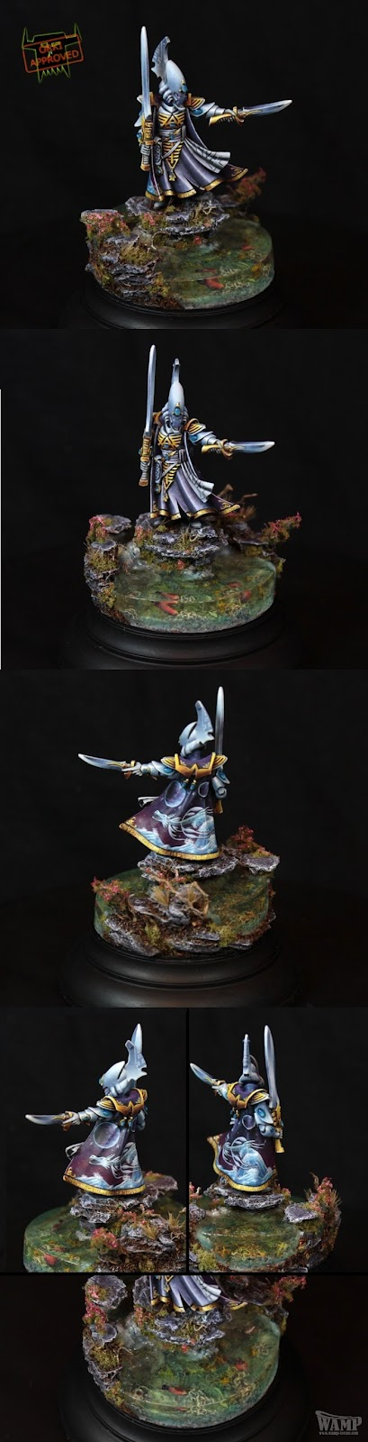 Vidente de los Eldar de Warhammer 40000 pintado por Orki