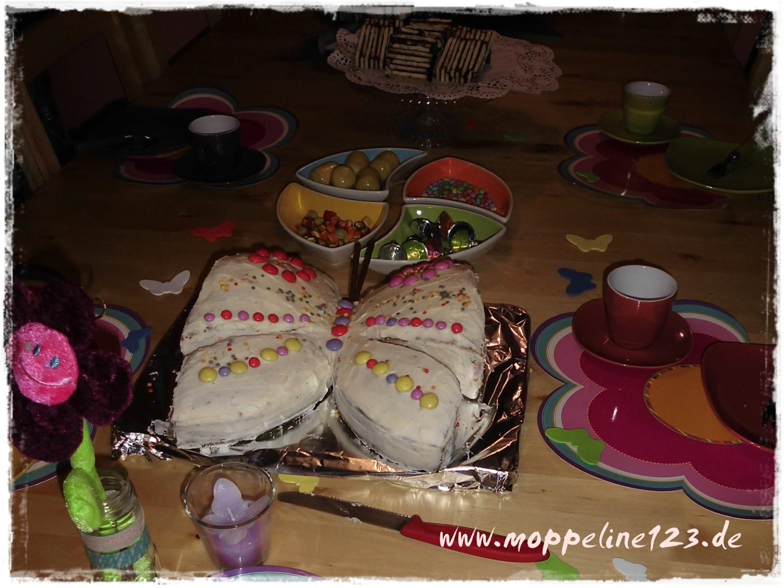 moppeline123: Der Schmetterlings- Geburtstagskuchen