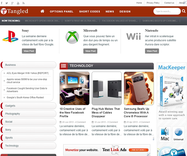 Tangled Responsive Blogger Template