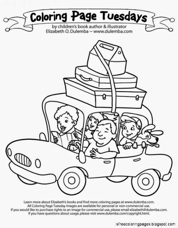 Vacation Coloring Pages Free Coloring Pages
