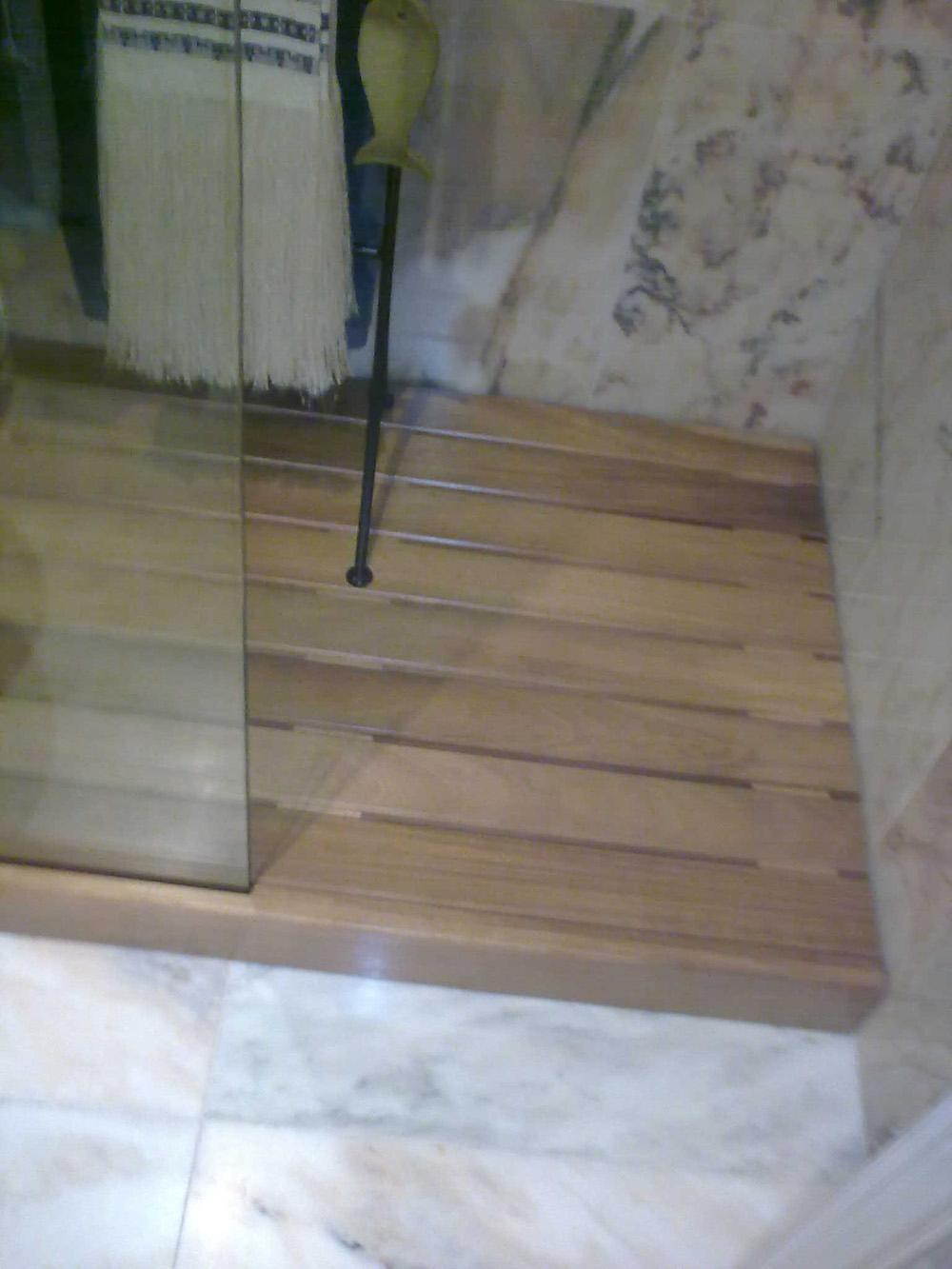 Tarima de ducha de madera muebles cansado zaragoza - Tarimas para ducha ...