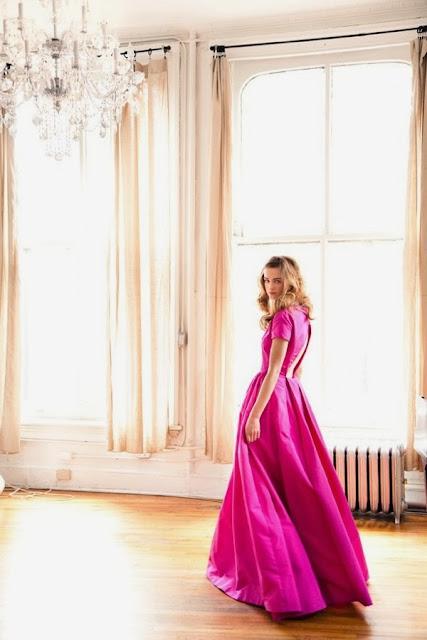 elsa schiaparelly, hot pink, shocking pink, fashion history, fashion 1950, pink dress