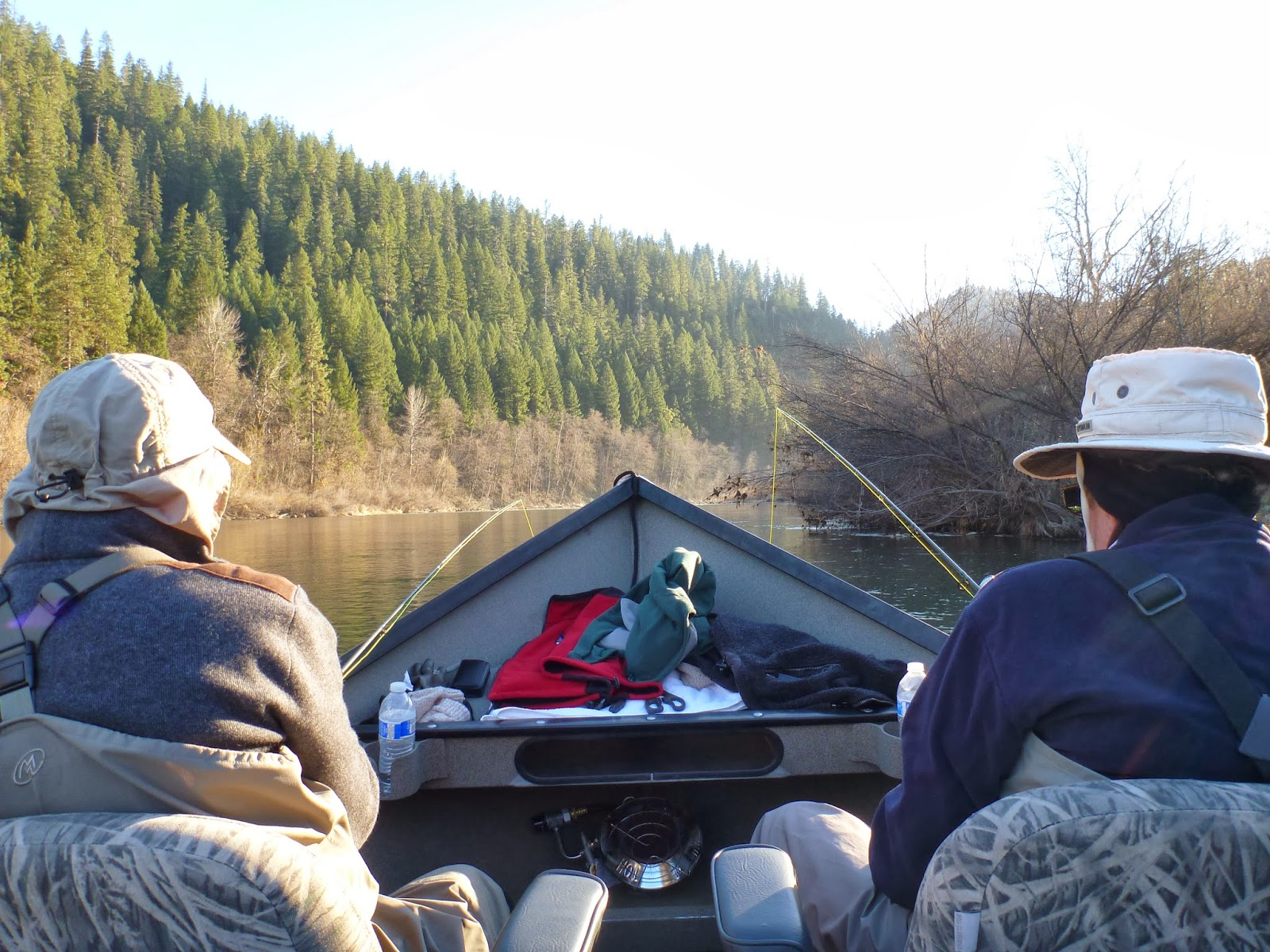 Steelhead fishing on the Klamath River with Ironhead Guide Service.