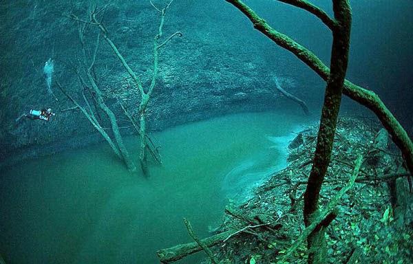 Υποθαλάσσια αλμυρή λίμνη, Χερσόνησος Γιουκατάν