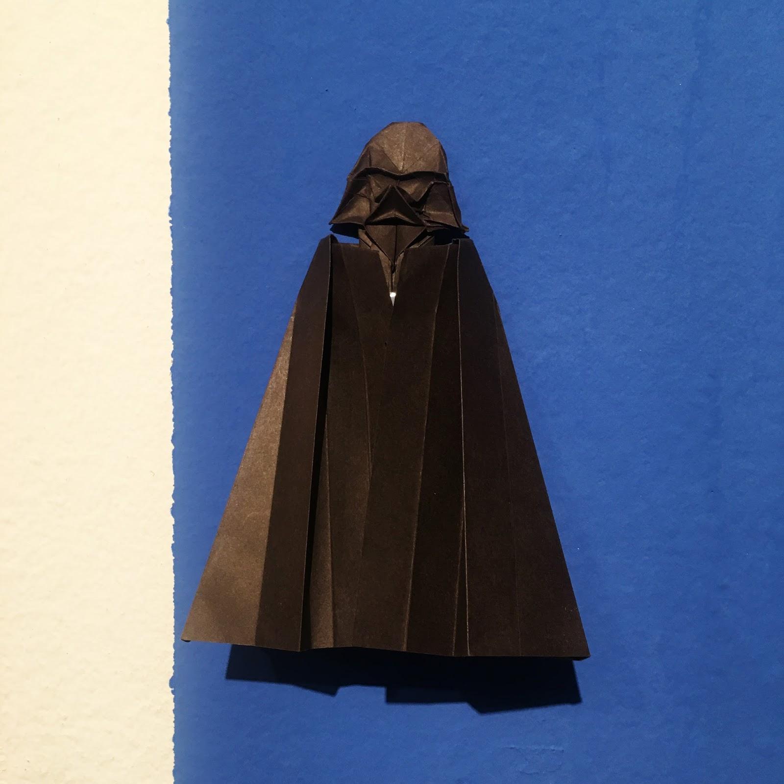 Darth Vader de papel Origami Ana Sofía Casaverde