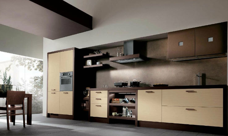 Simply Beautiful Kitchens The Blog Brown And Cream Modular Kitchen By Scavolini