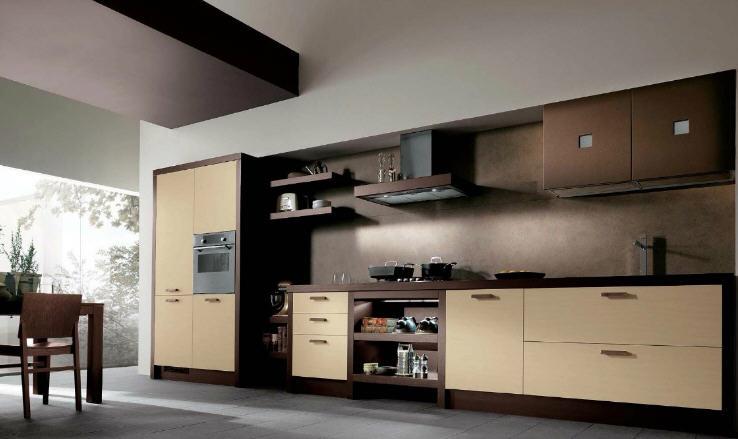 Brown And Cream Modular Kitchen By Scavolini