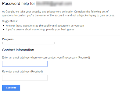 how to recover Gmail Account