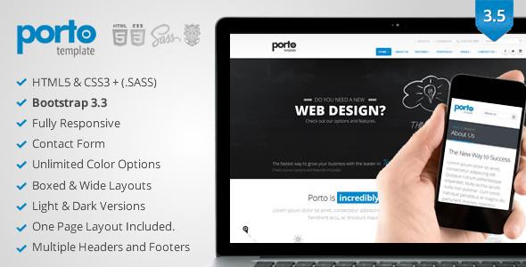 Jual Template HTML Porto - Responsive HTML5 Template