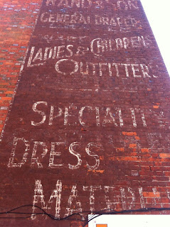 Ghost sign on the High Street, Lymington, Hampshire