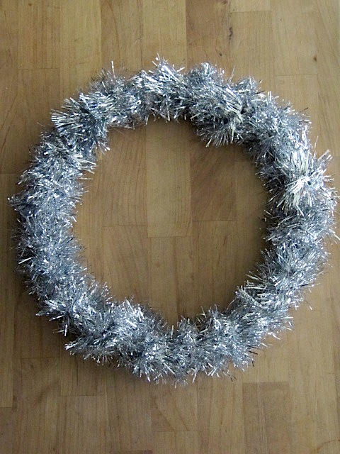 Sew many ways embroidery hoop tinsel wreath