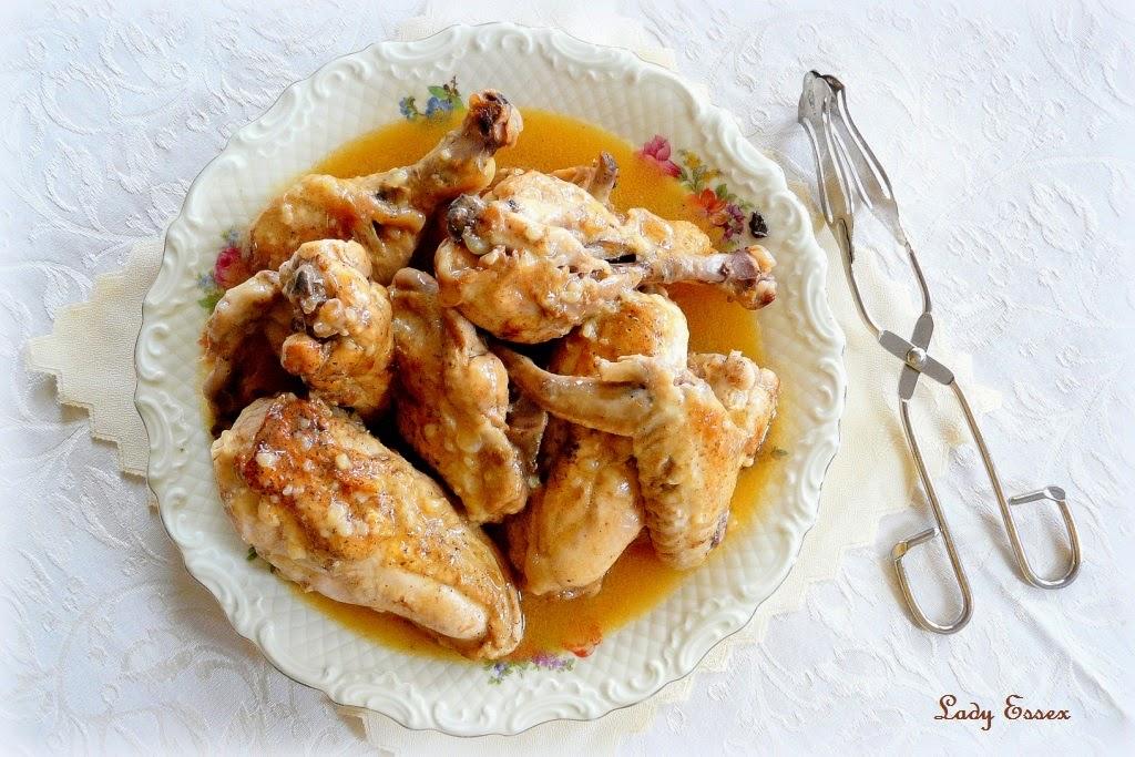Kurczak z sosem winnym