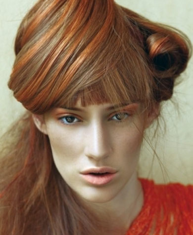 Cutting Edge Orange Hair Higlights 2014