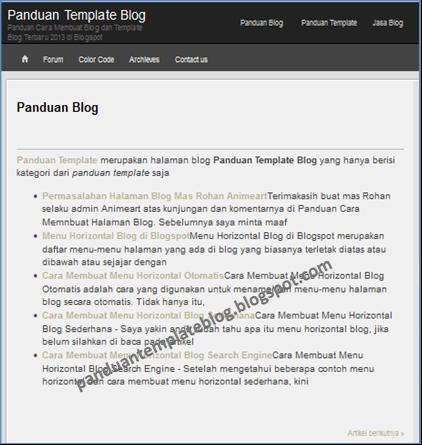 Cara Membuat Isi Halaman Blog Berdasarkan Label