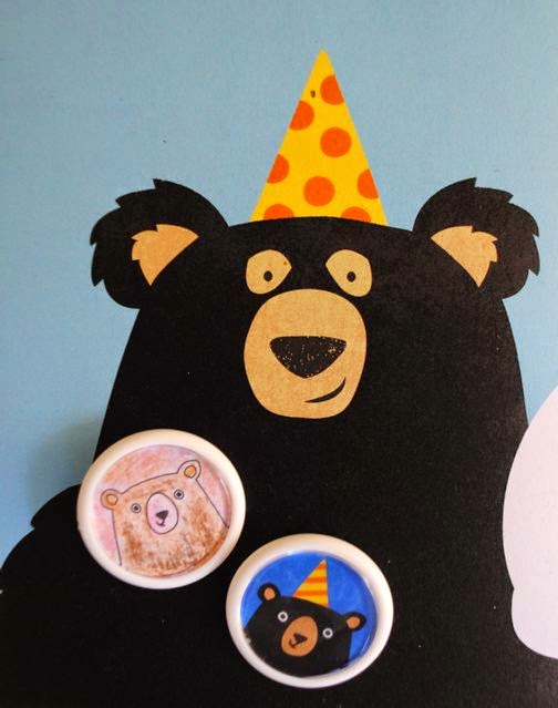 Birthday bear with badges