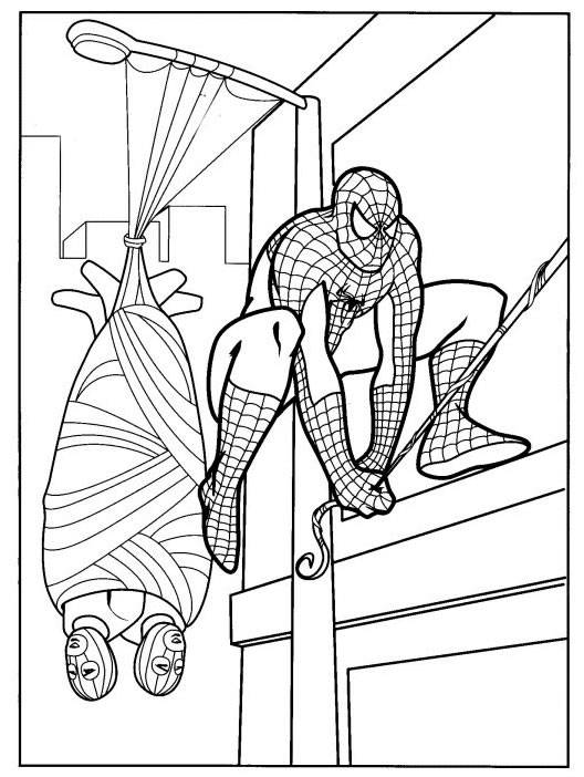 SPIDERMAN COLORING COLORING PAGE OF SPIDERMAN