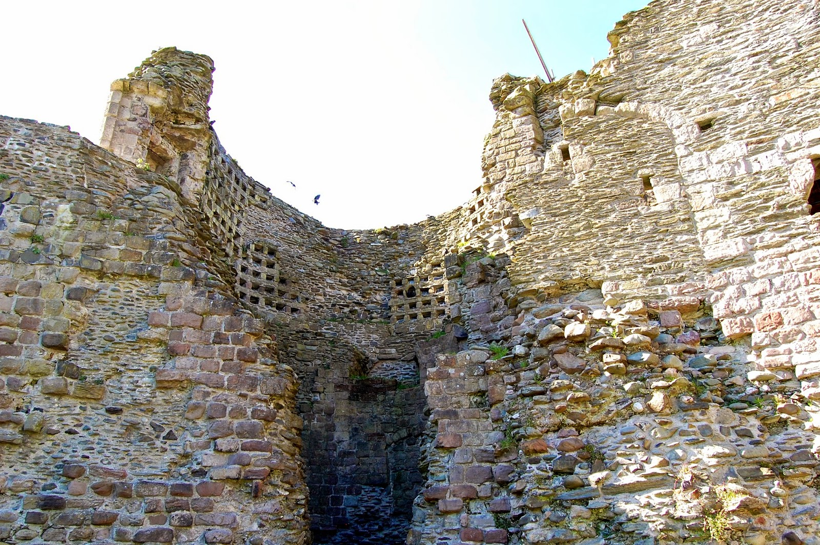 Doocot within the northwest tower at Rothesay Castle