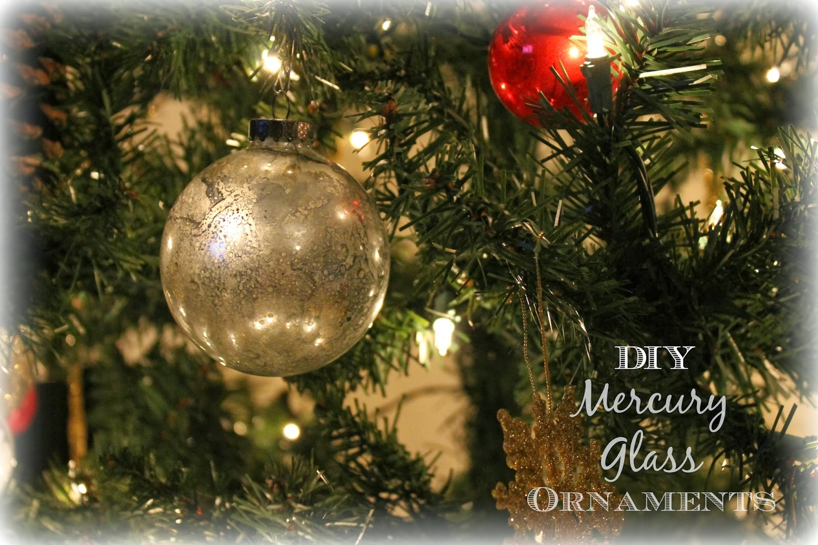 Diy mercury christmas ornaments - If You Want To Make Your Own Mercury Glass Ornaments You Will Need