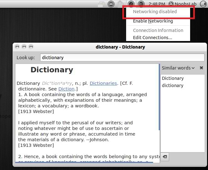 ubuntu offline dictionary