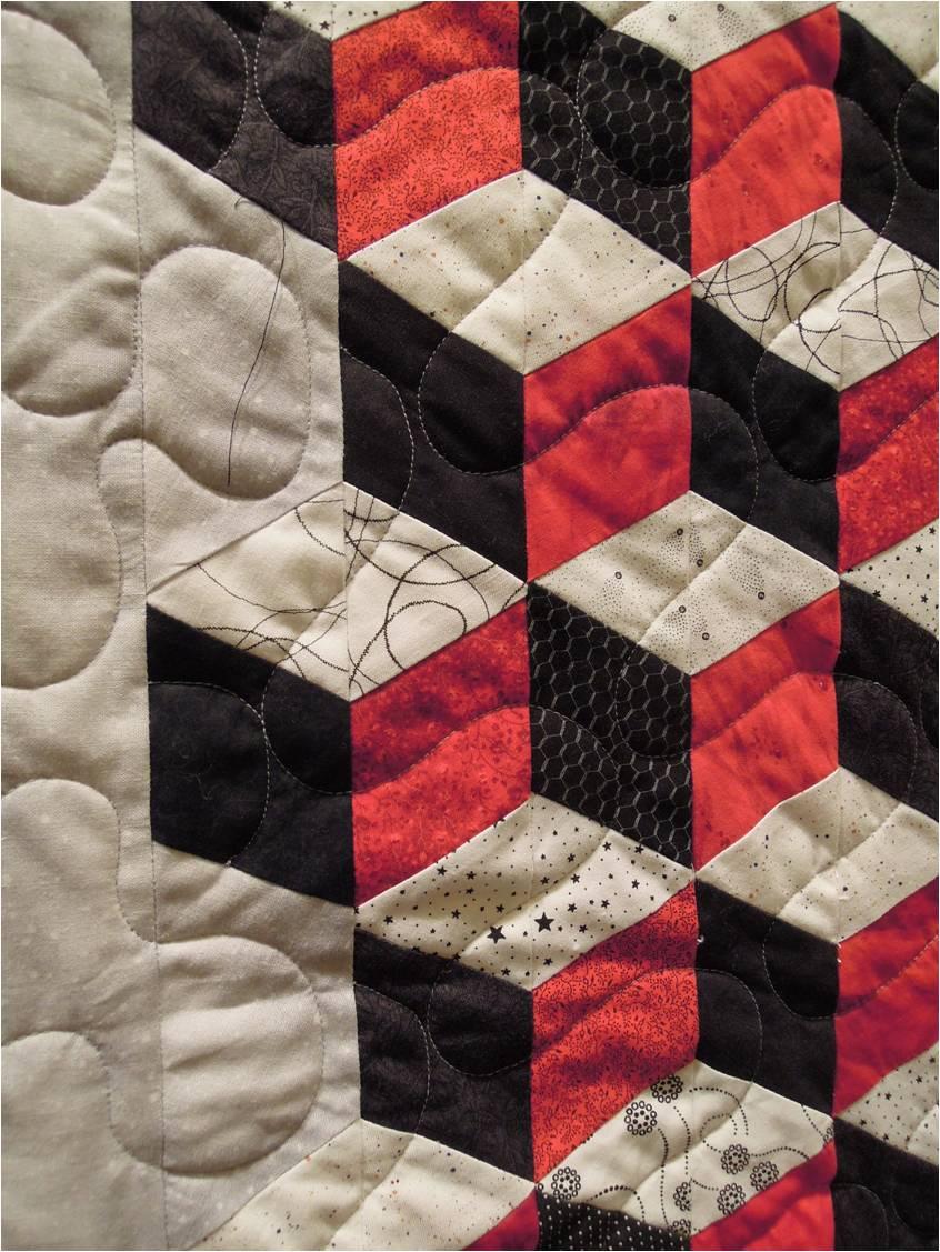 Quilting Patterns Tumbling Blocks : Quilt Inspiration: Quilts of illusion: tumbling blocks