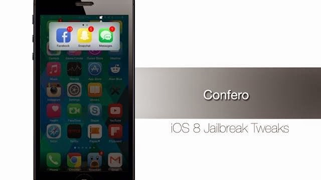 Confero Cydia Jailbreak Tweak: Hide Apps iOS 8 Badges And Tidy Up your Home Screen