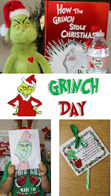 we had grinch day we read the story and drew the grinch with some help ...