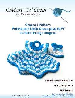 Crochet Pot Holder Little Dress DIY