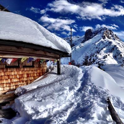hó alatt a terasz