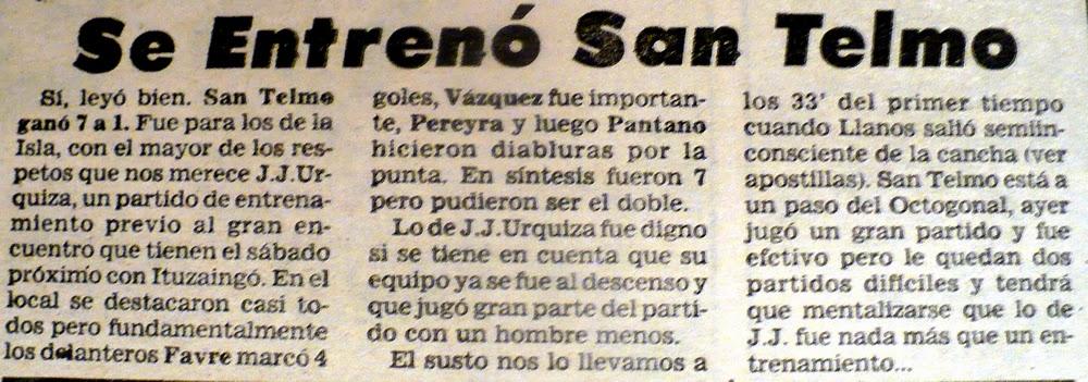 SAN TELMO 7 - JJ 1 (1989) ISLA MACIEL